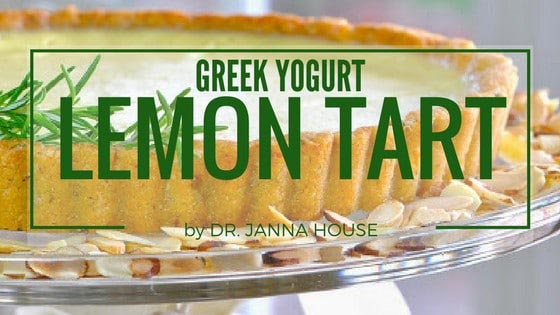 Chiropractic London ON Greek Yogurt Lemon Tart