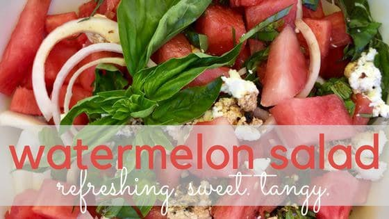 Chiropractic London ON Watermelon Salad Recipe