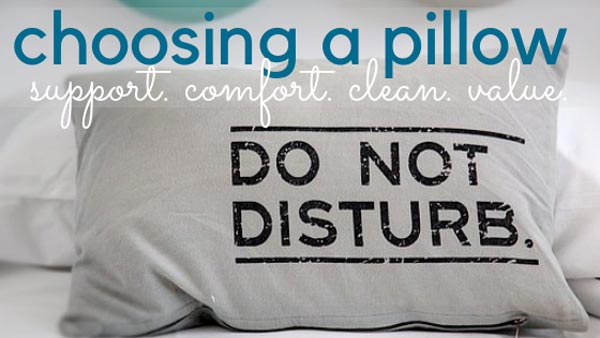 choosing a pillow healthy tips from